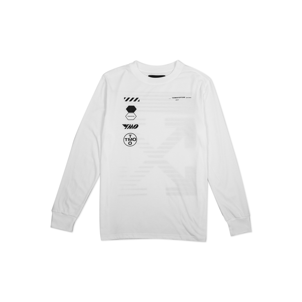 TOOMANY OPTIONS CAPSULE L/S T-SHIRT WHITE