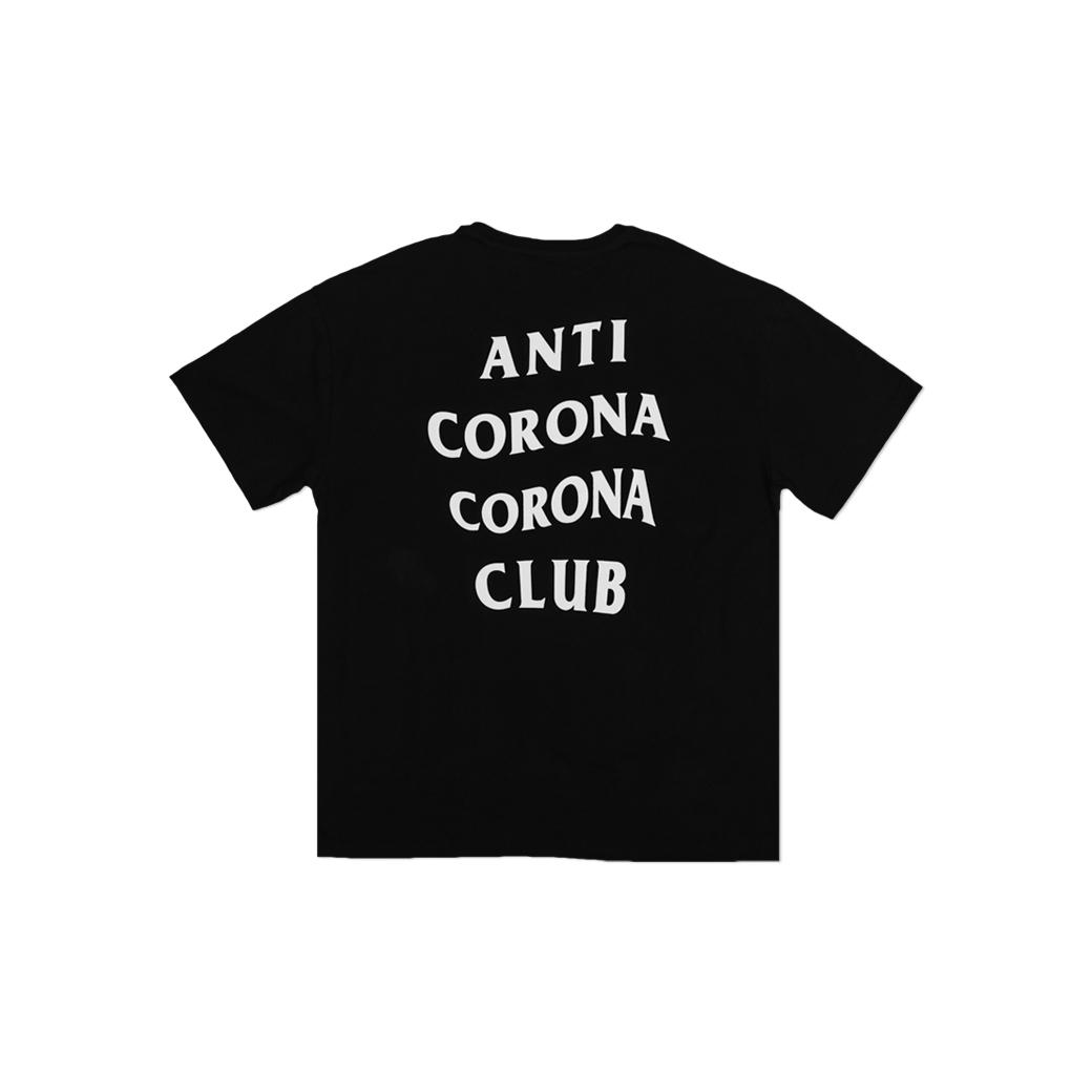 TOOMANY OPTIONS ANTI CORONA T-SHIRT BLACK
