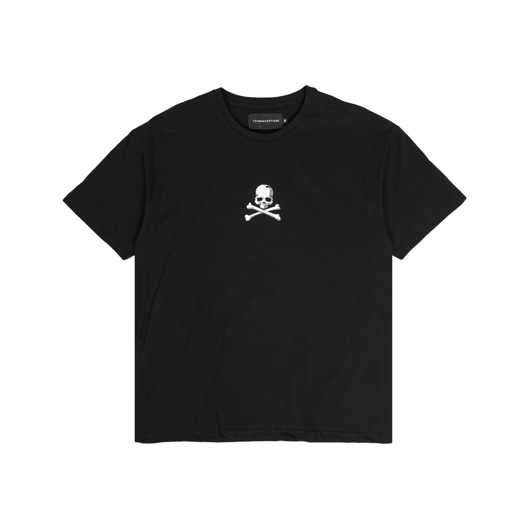 TOOMANY OPTIONS SKULL T-SHIRT BLACK