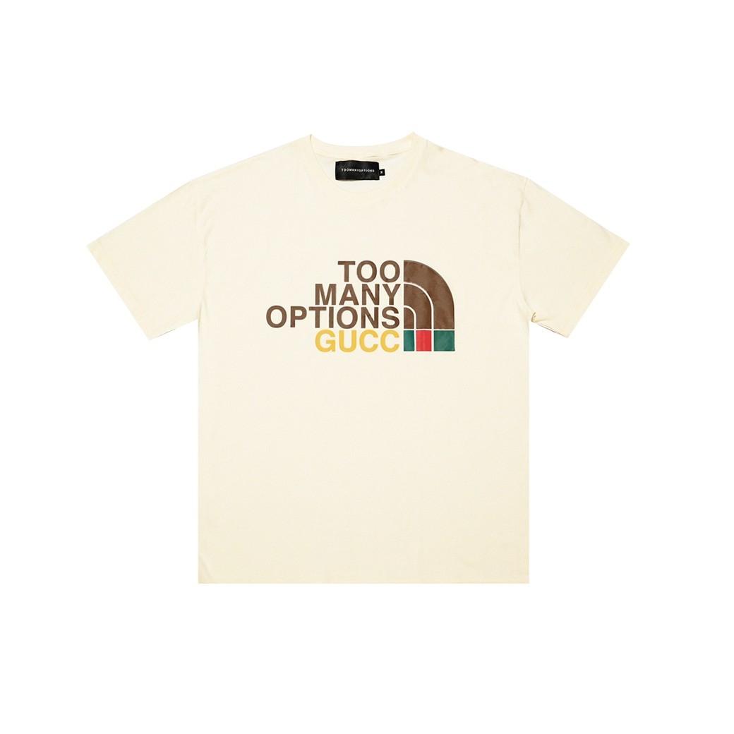 TOOMANY OPTIONS TMOS X GUCC T-SHIRT CREAM
