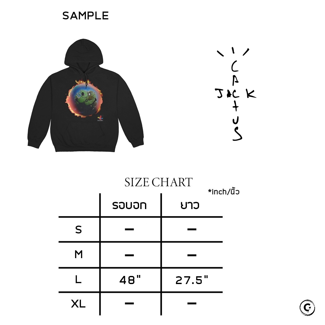 CACTUS JACK TRAVIS SCOTT THE SCOTTS WORLD HOODIE BLACK