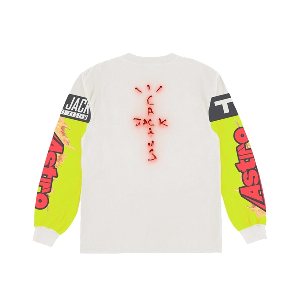 CACTUS JACK TRAVIS SCOTT THE SCOTT CJ GAMING I L/S JERSEY WHITE