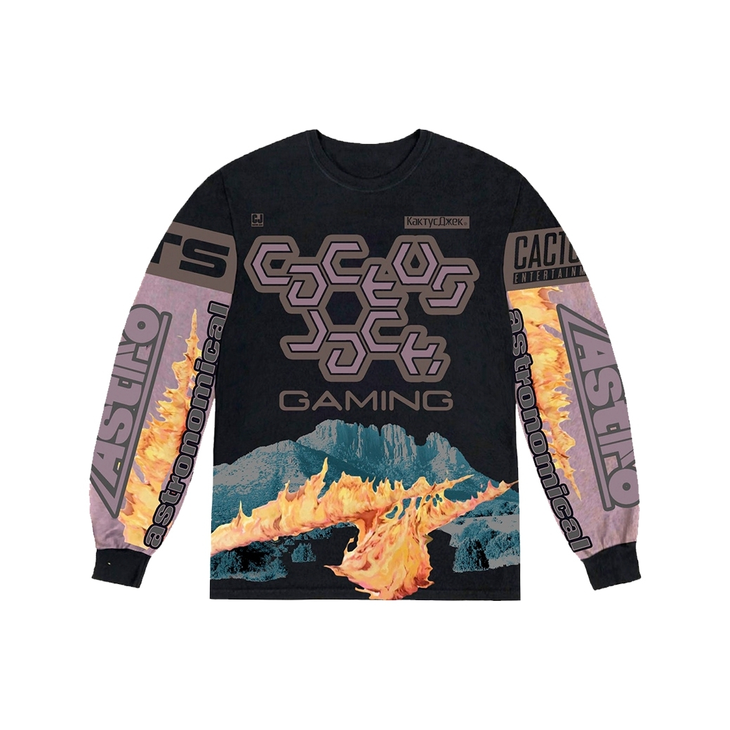 CACTUS JACK TRAVIS SCOTT THE SCOTT CJ GAMING I L/S JERSEY BLACK