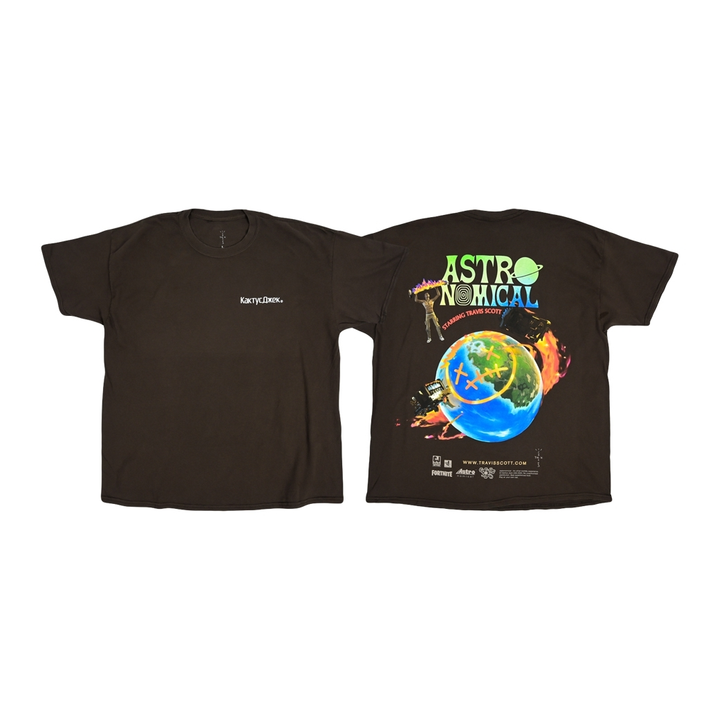 CACTUS JACK TRAVIS SCOTT THE SCOTTS SICKO EVENT T-SHIRT BROWN