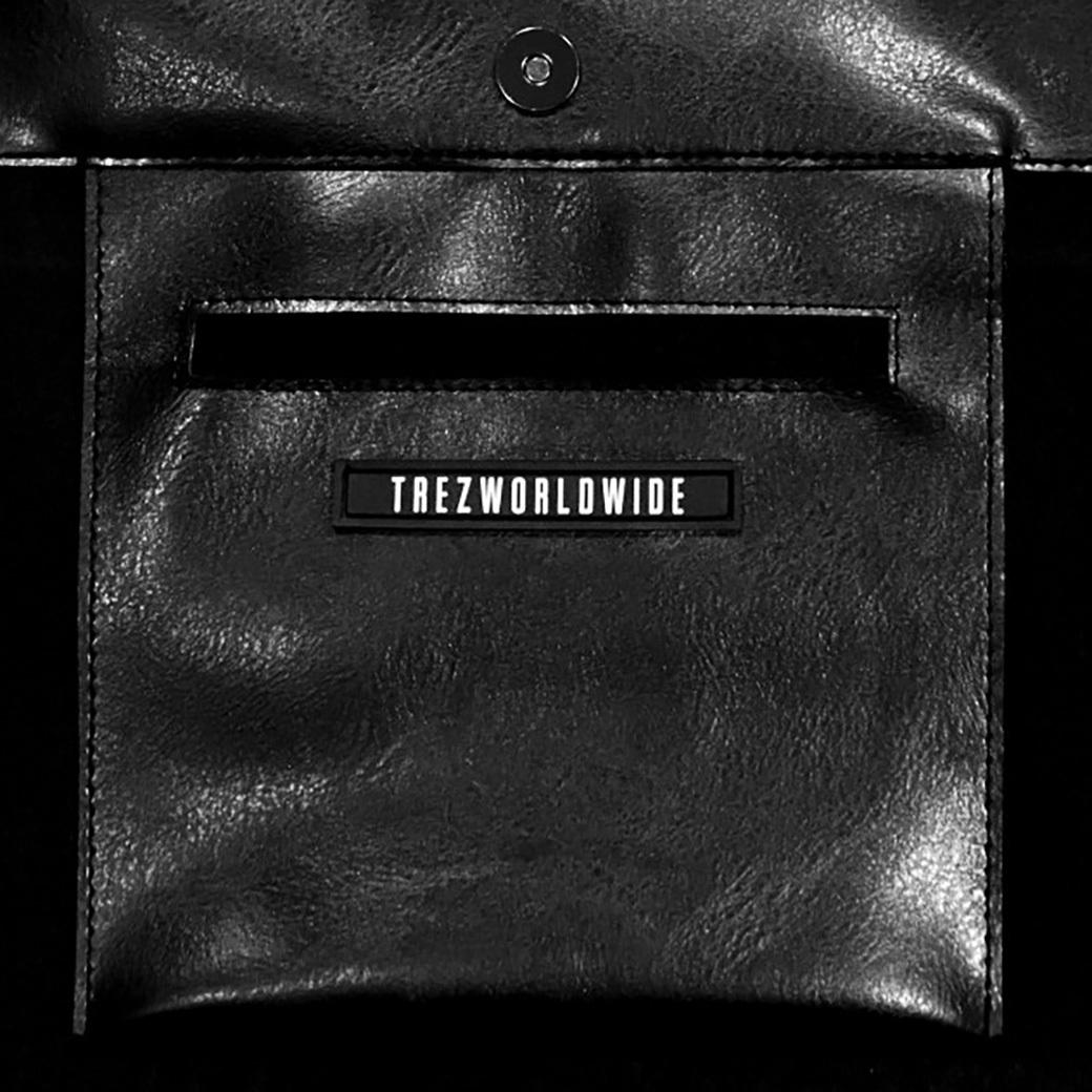 TZ WORLDWIDE LEATHER OVERSIZED TOTE BAG BLACK