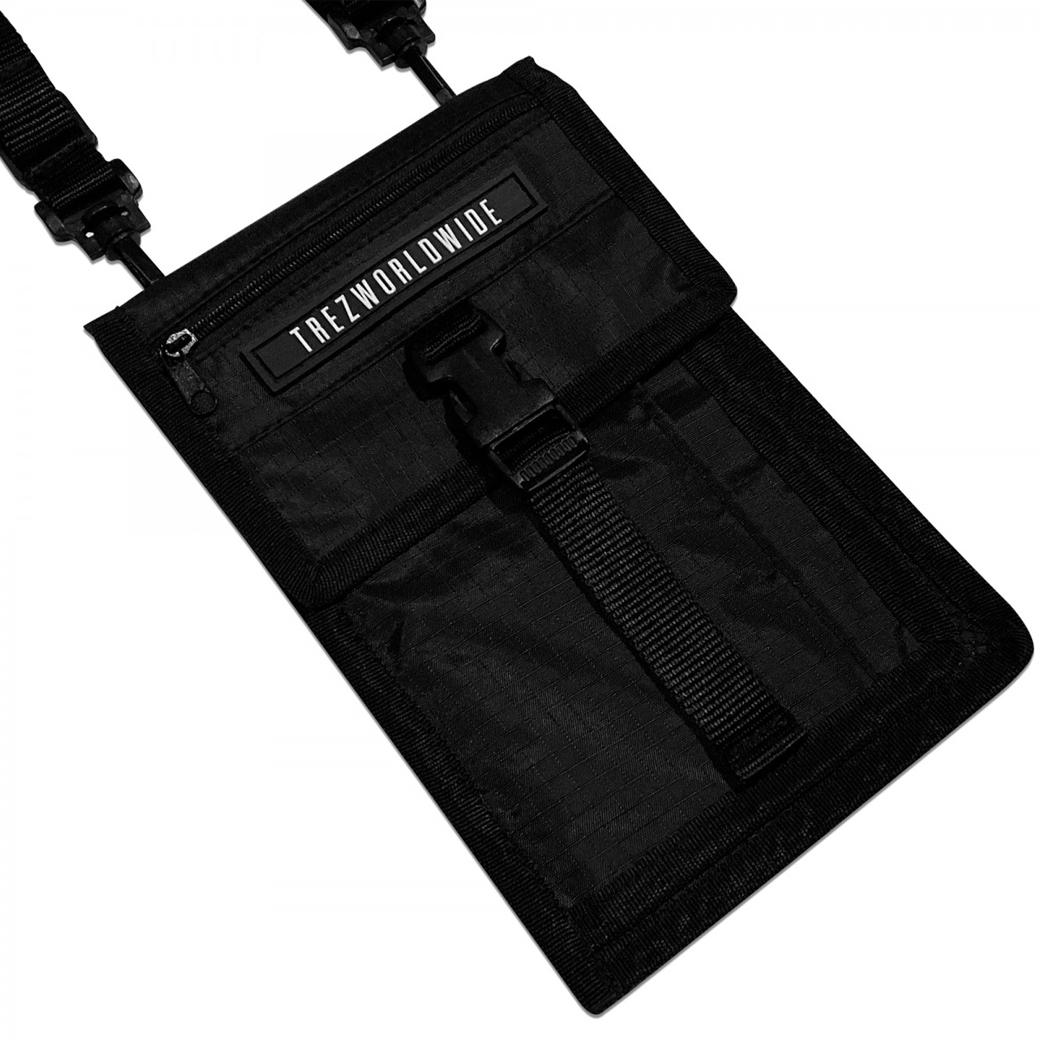 TZ WORLDWIDE POCKET SHOULDER BAG BLACK