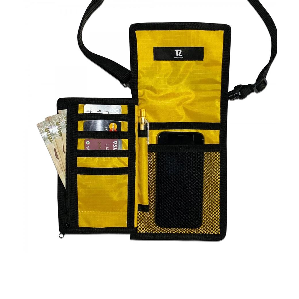 TZ WORLDWIDE POCKET SHOULDER BAG GOLD