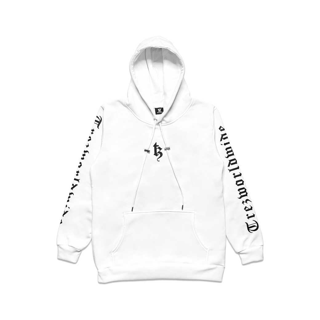 TZ WORLDWIDE BE TREZ HOODIE WHITE