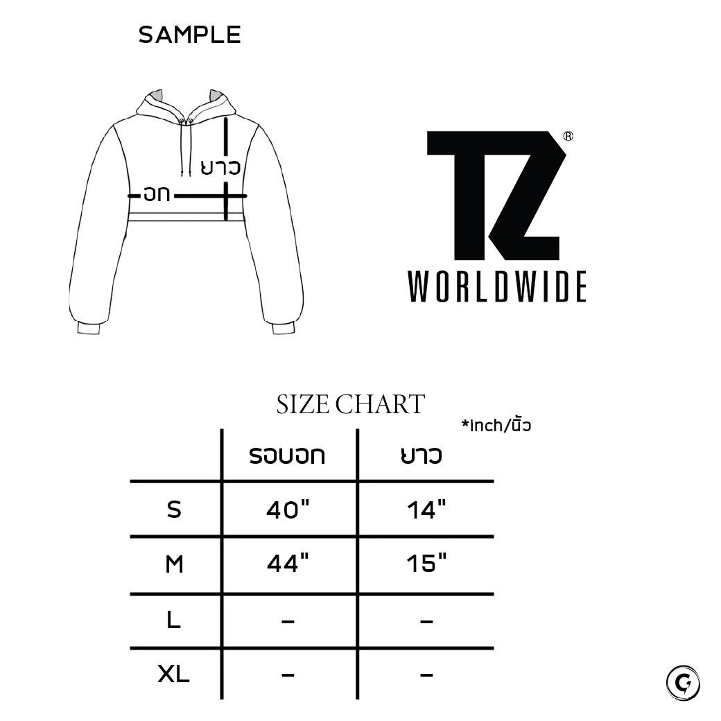 TZ WORLDWIDE BE TREZ HIGH CROPPED HOODIE WHITE