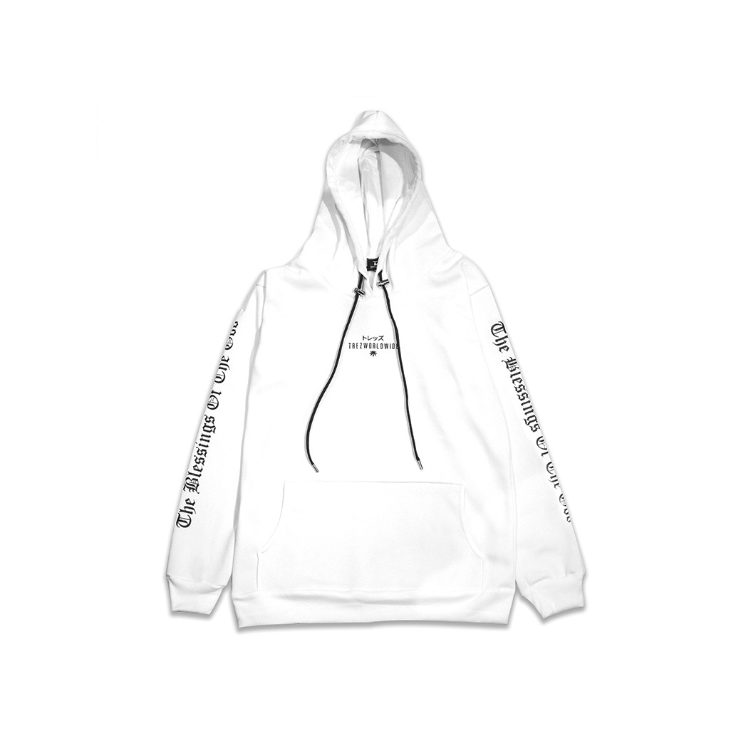 TZ WORLDWIDE GOD IS DOPE HOODIE WHITE