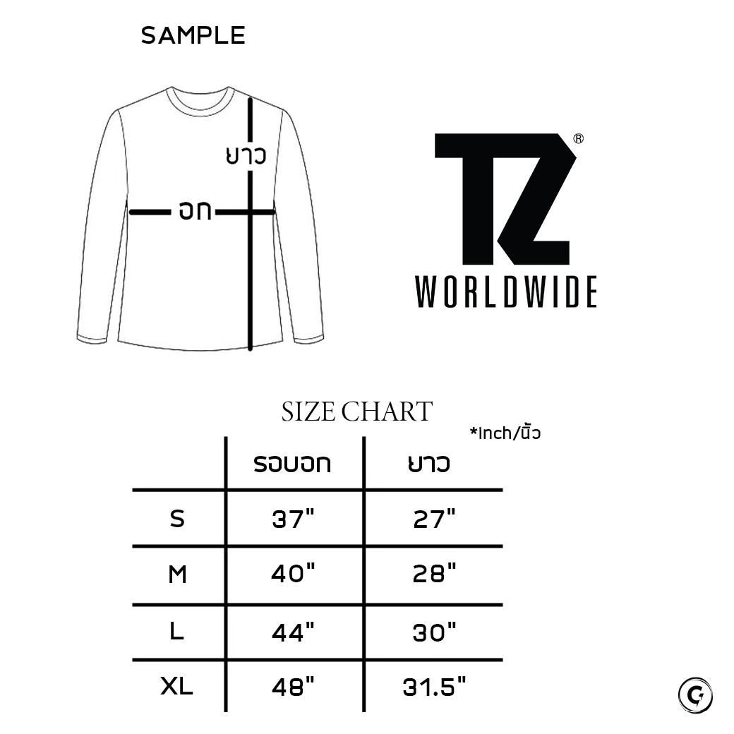 TZ WORLDWIDE BE TREZ L/S T-SHIRT WHITE