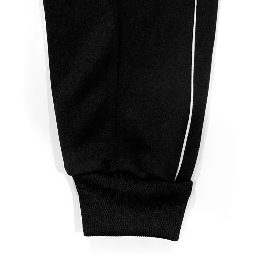 TZ WORLDWIDE REFLECT PIPING TRACK PANTS BLACK
