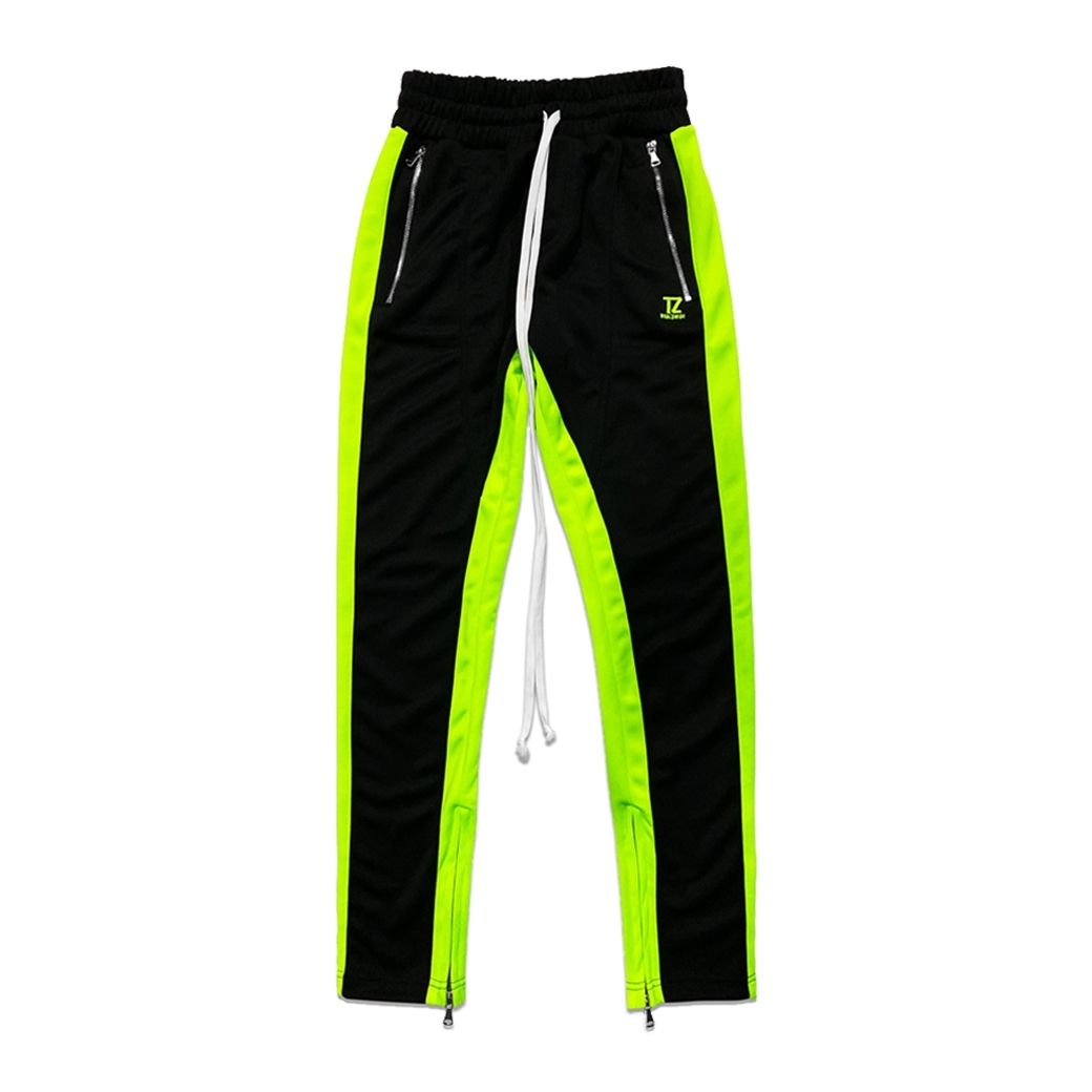 TZ WORLDWIDE TRACK PANTS BLACK/NEON