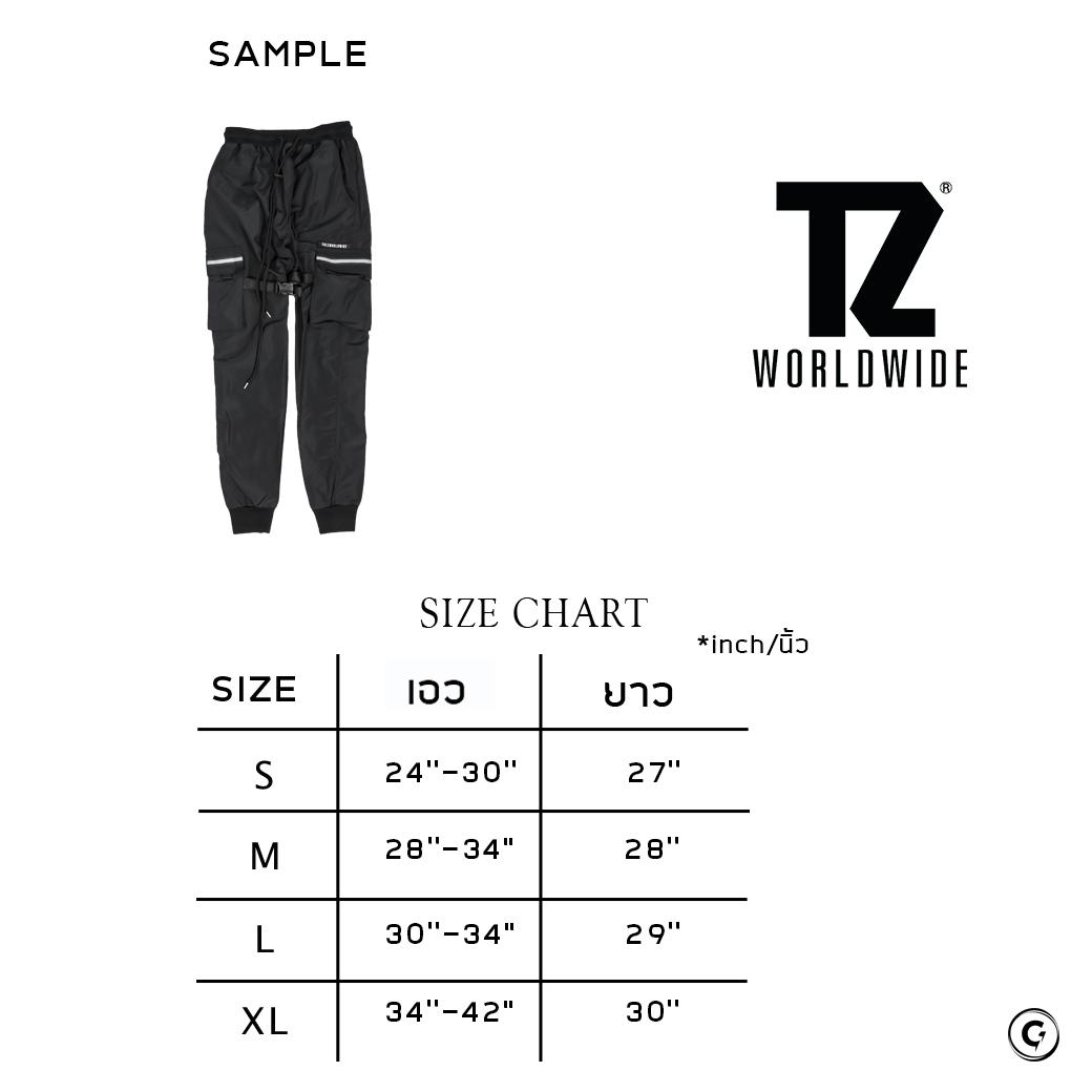 TZ WORLDWIDE NYLON CARGO PANTS BLACK