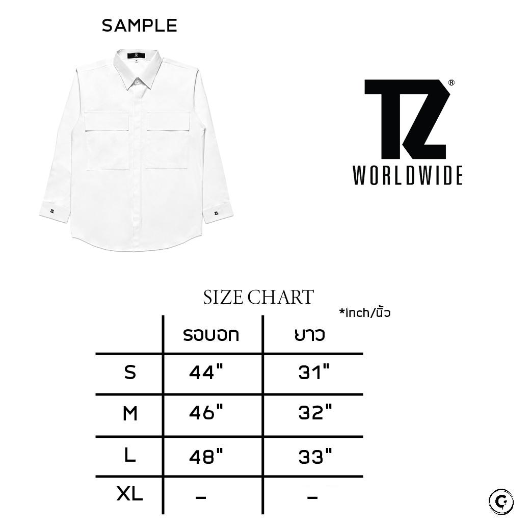 TZ WORLDWIDE OVERSIZED L/S SHIRT WHITE