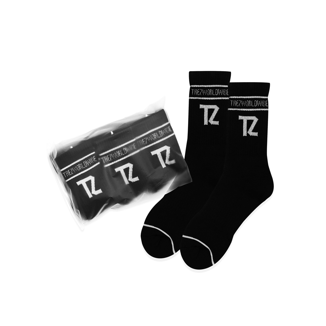 TZ WORLDWIDE TZ CREW SOCKS BLACK