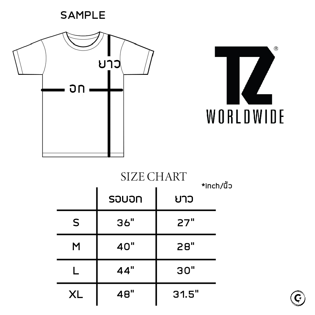 TZ WORLDWIDE BOMB TEE BLACK/GREY