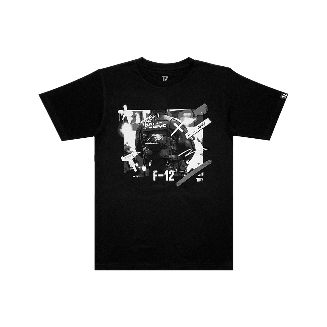 TZ WORLDWIDE FUCK-12 T-SHIRT BLACK