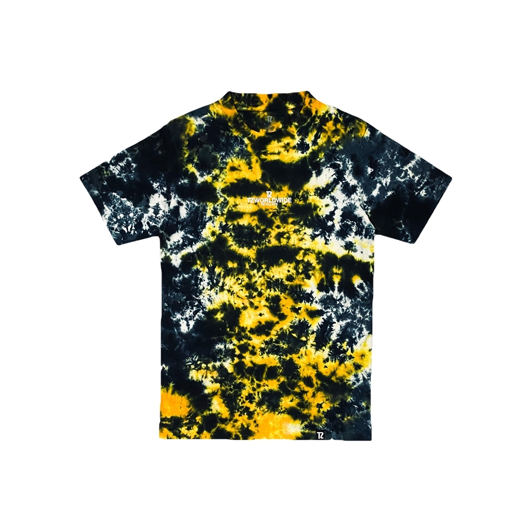 TZ WORLDWIDE TIE-TILL-DYE T-SHIRT YELLOW