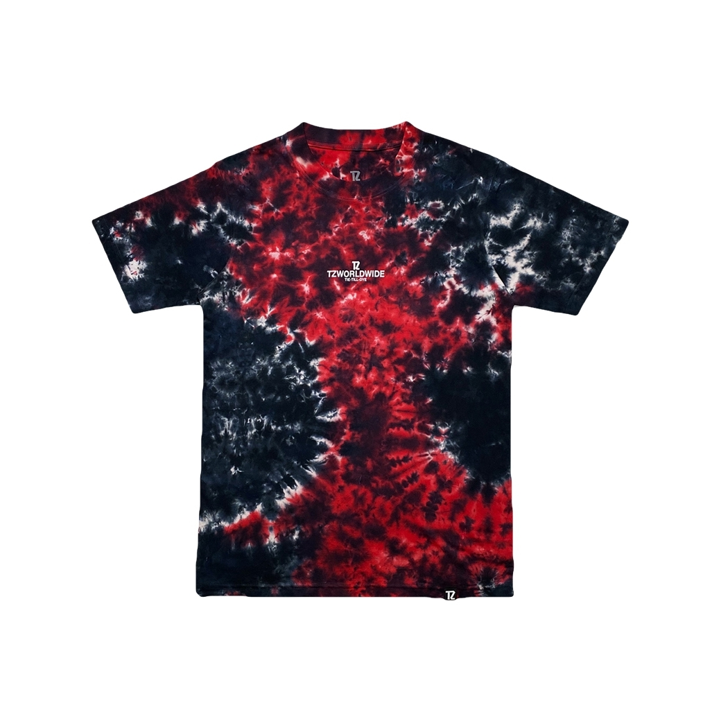 TZ WORLDWIDE TIE-TILL-DYE T-SHIRT RED