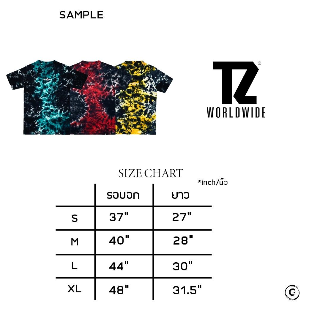 TZ WORLDWIDE TIE-TILL-DYE T-SHIRT GREEN