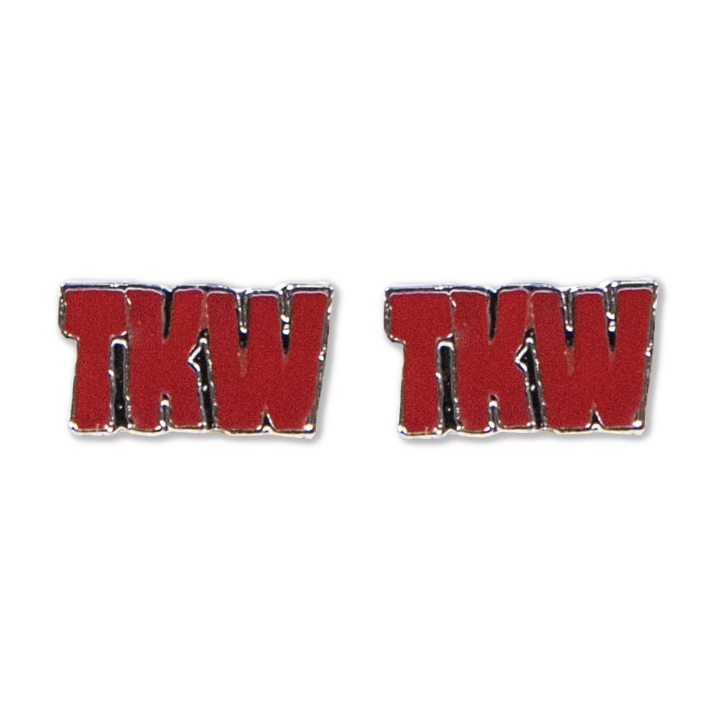 TKW LOGO EARRING RED