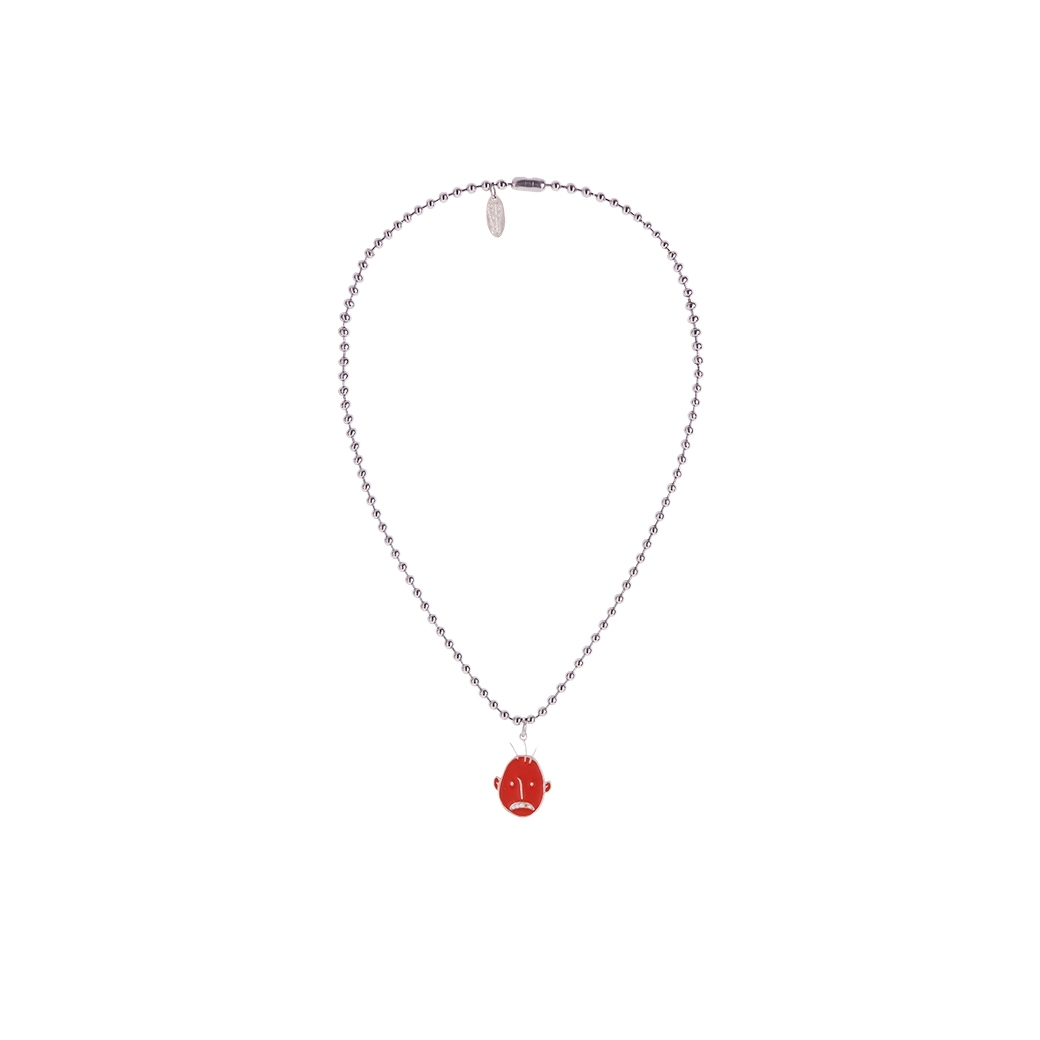 UXRY CLUB MOOD REVERSIBLE NECKLACE SILVER