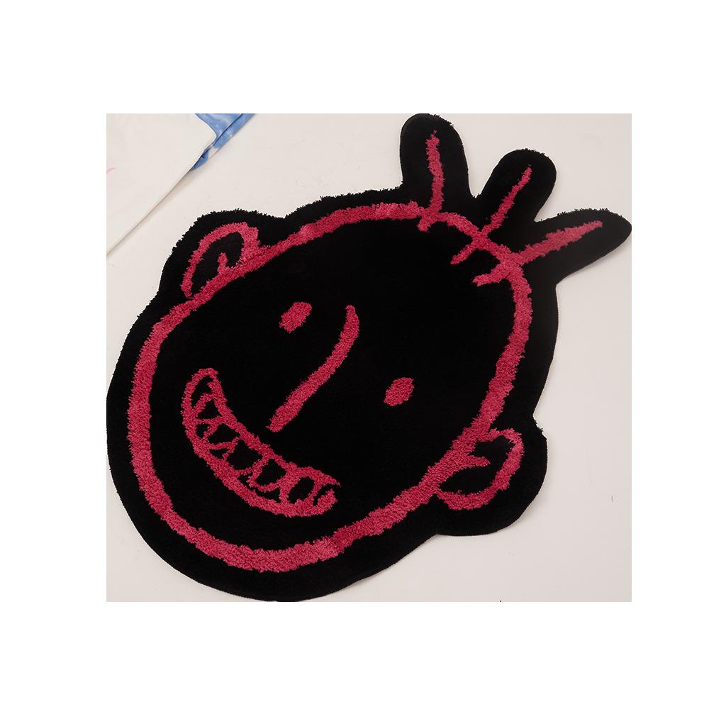 UXRY CLUB UXRY LOGO RUG BLACK/PINK