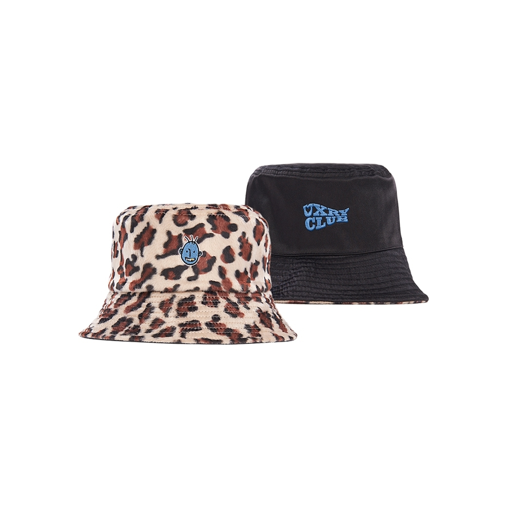 UXRY CLUB CHEETAH REVERSIBLE BUCKET HAT LEOPARD