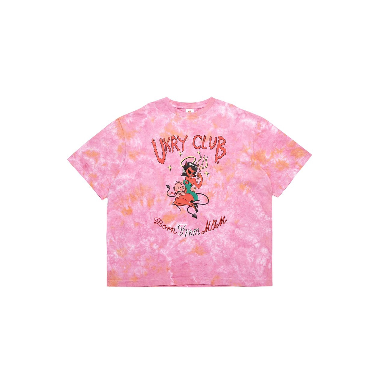 UXRY CLUB IMOTO TIE DYE RELAXED TEE PINK