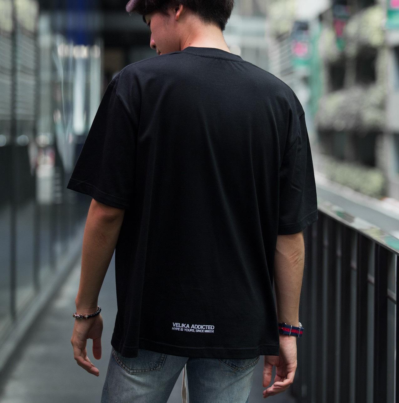 VELIKA GRADIENT OVERSIZED T-SHIRT BLACK
