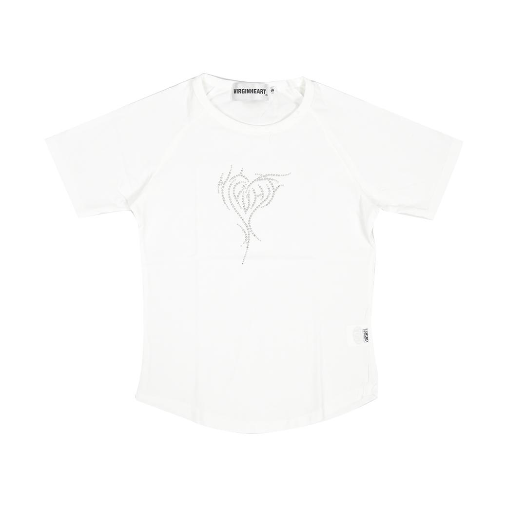 V.G.H DIAMOND HEART BABY T-SHIRT WHITE