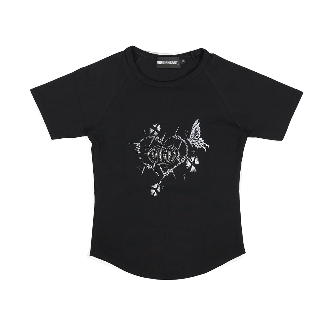 V.G.H X STAB WIRE BABY T-SHIRT BLACK