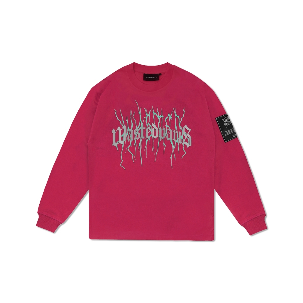 WASTED PARIS THUNDER BRIDGE REFLECTIVE L/S PINK