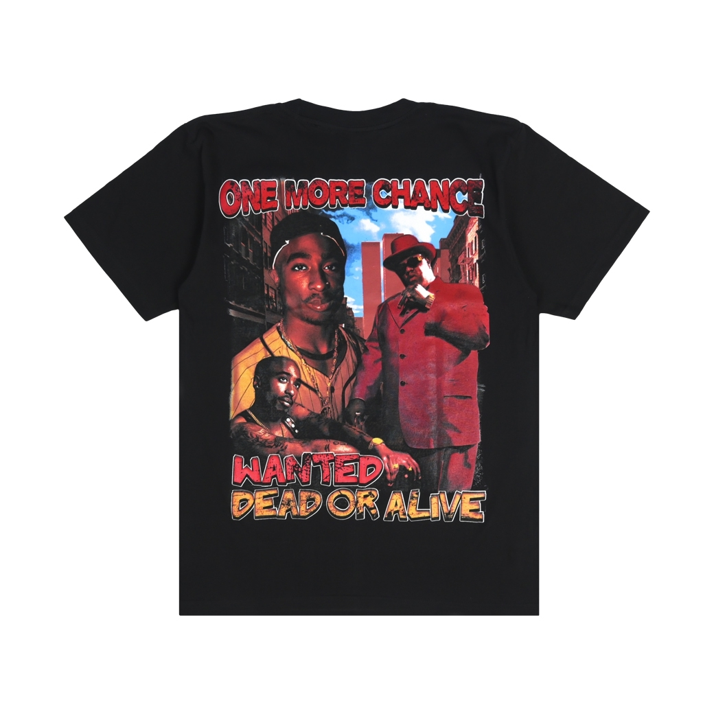 WICKEDBOY CLOTHING TUPAC AND BIGGIE TEE BLACK