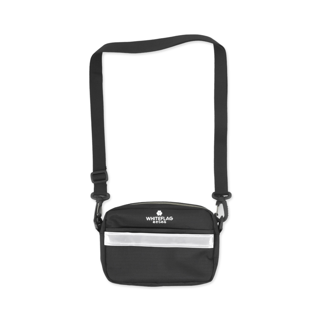 WHITEFLAG UPSIZED SHOULDER BAG BLACK MAGIC HOLLEYHOCK