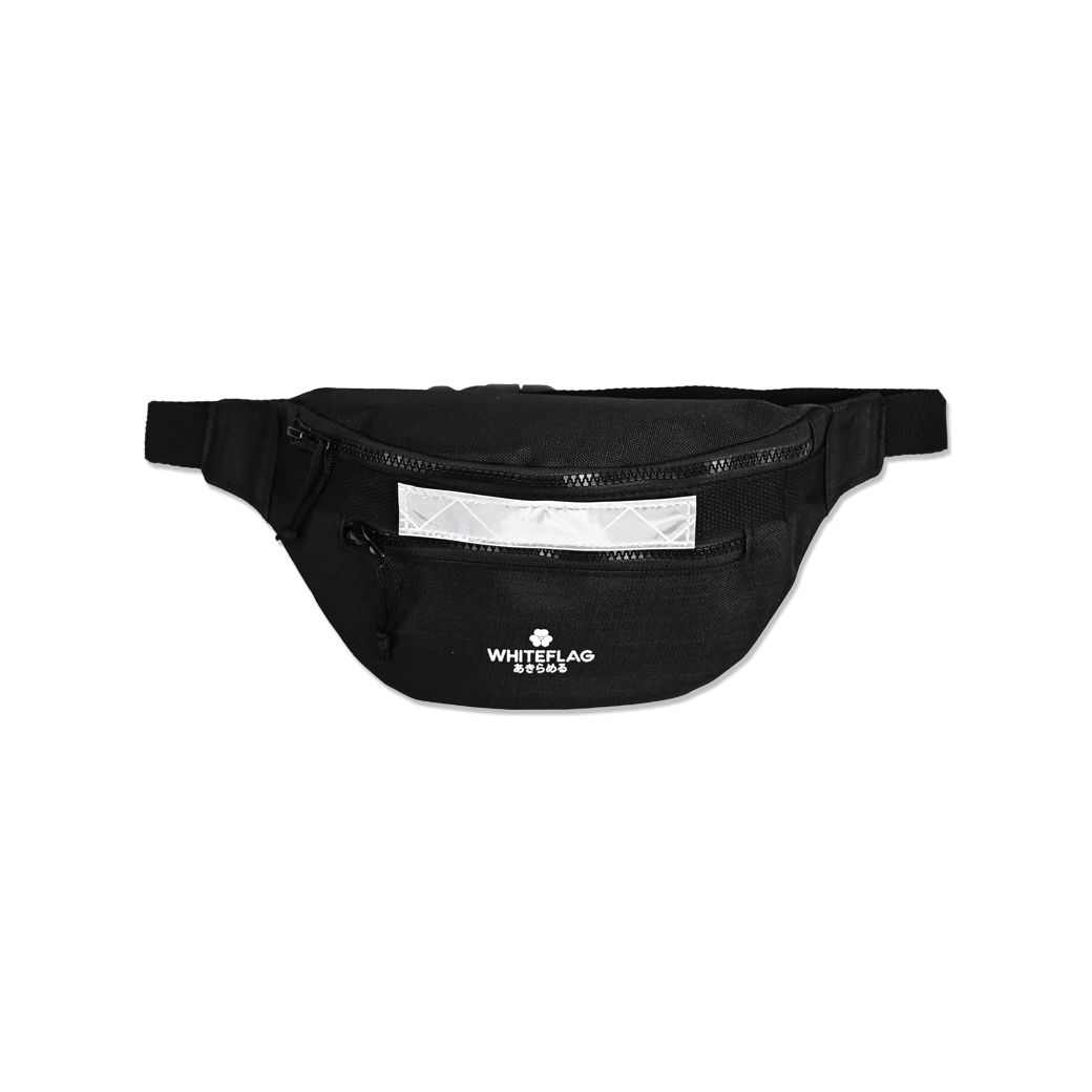 WHITEFLAG UPSIZED BELT BAG BLACK MAGIC HOLLEYHOCK