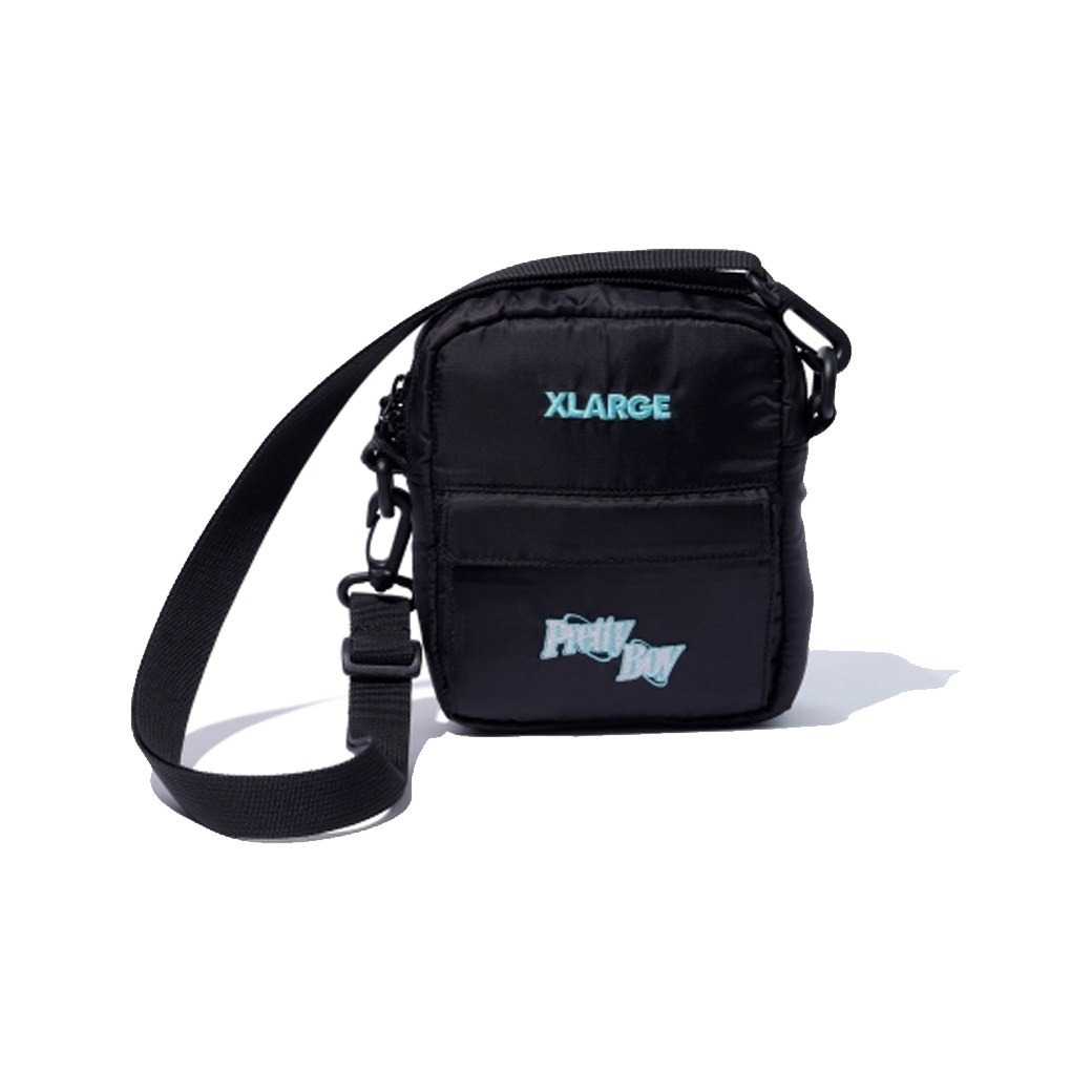 X-LARGE X PRETTYBOYGEAR SHOULDER BAG BLACK