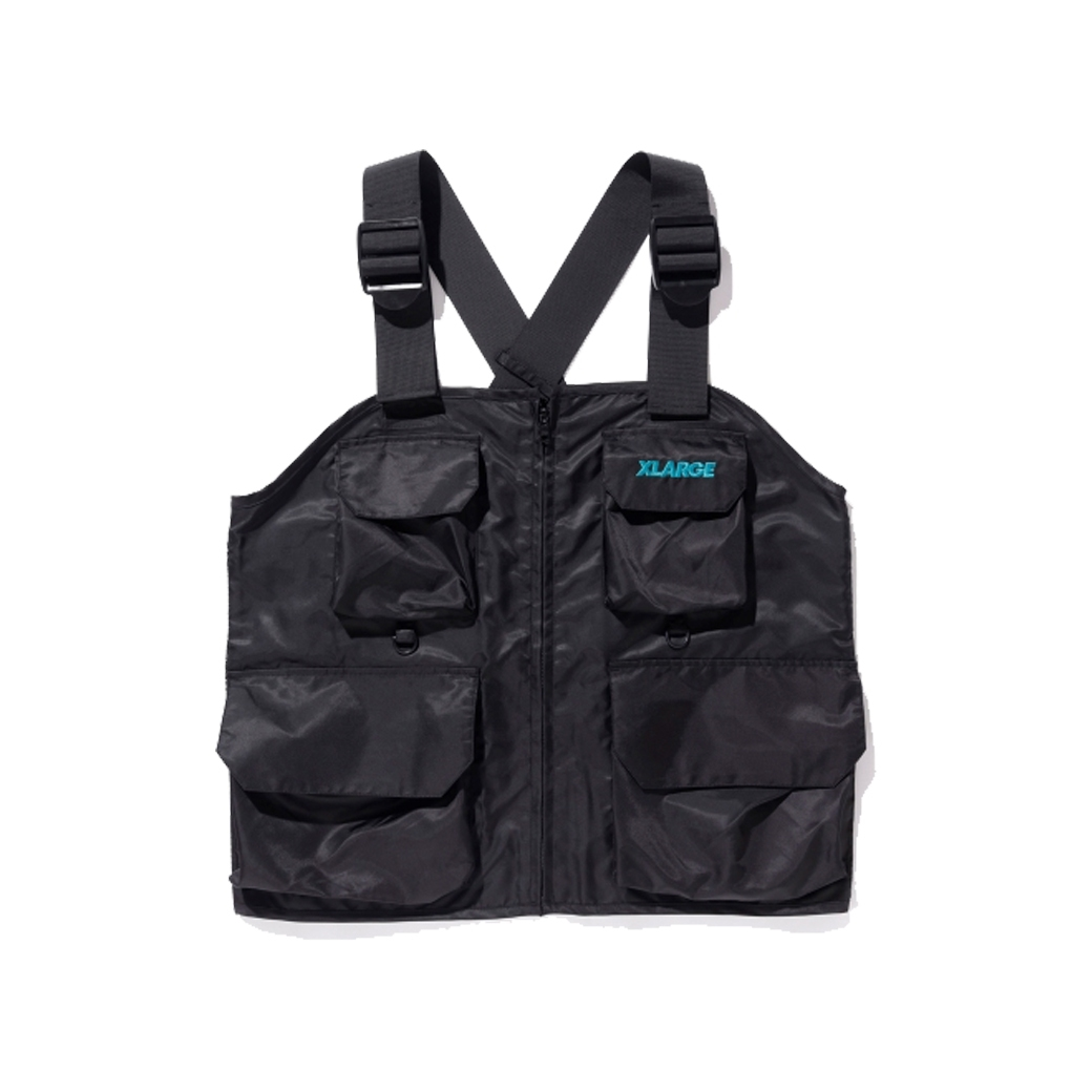 X-LARGE X PRETTYBOYGEAR CHEST RIG VEST BLACK