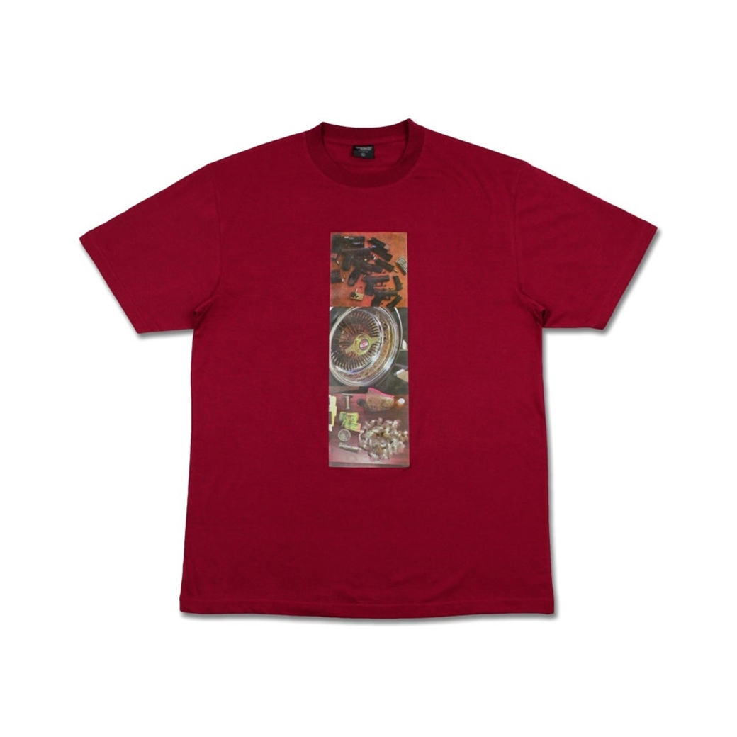 YVHC MADE IN THE HOOD TEE MAROON