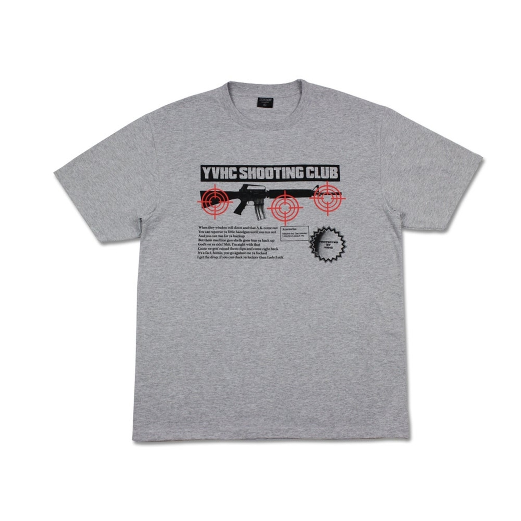 YVHC SHOOTING CLUB TEE GREY