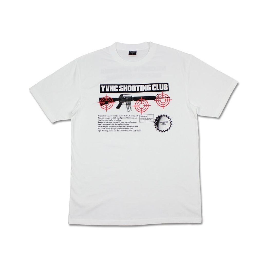 YVHC SHOOTING CLUB TEE WHITE