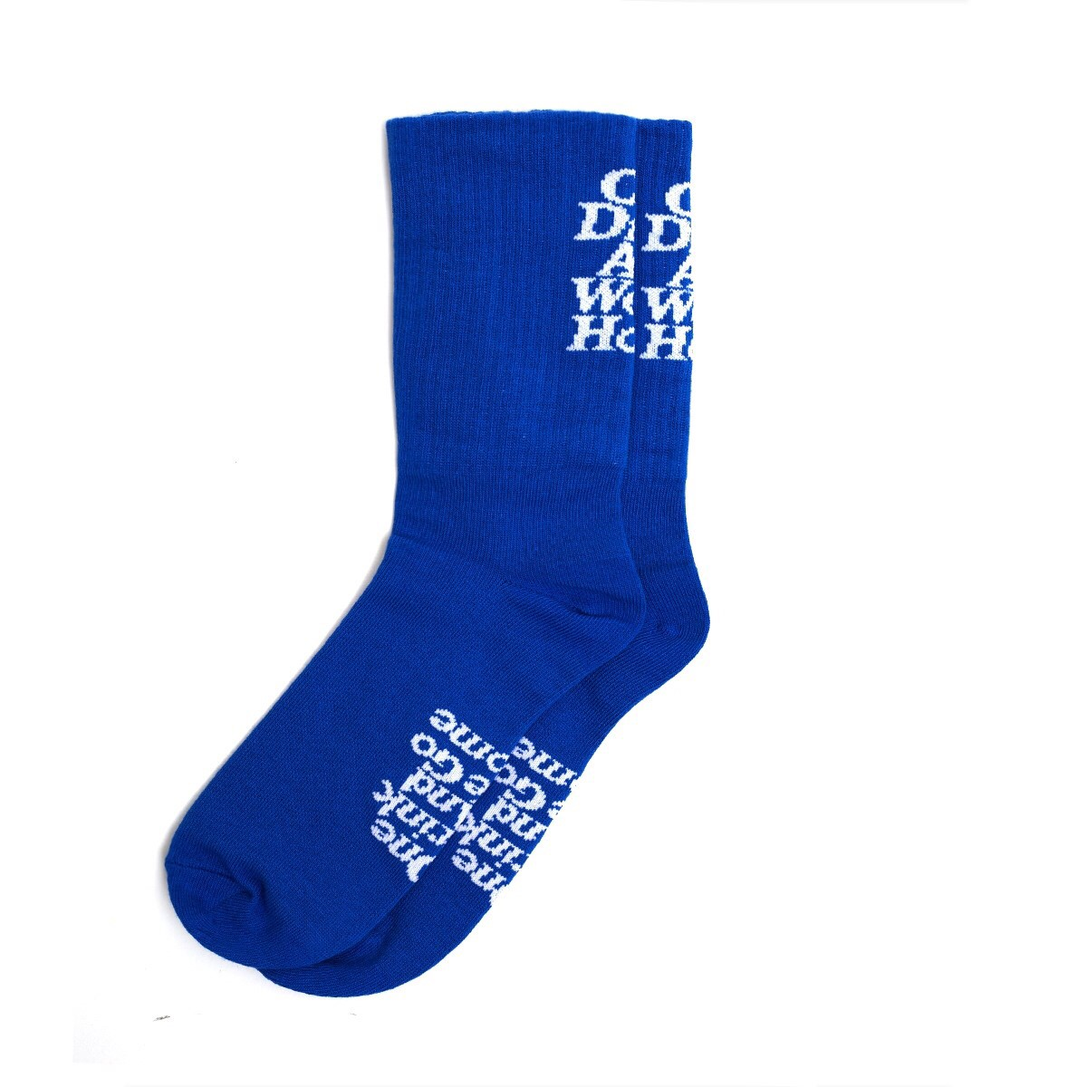 ONE DRINK AND WE GO HOME I CAN'T SMILE SOCKS PACK BLUE