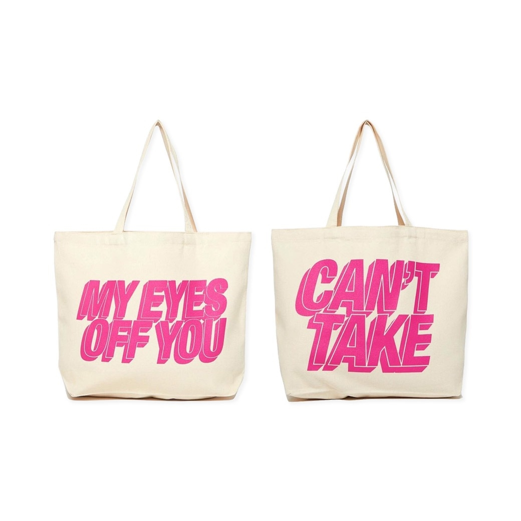 ONE DRINK AND WE GO HOME VALENTINE IS COMING TOTE BAG LAW/PINK