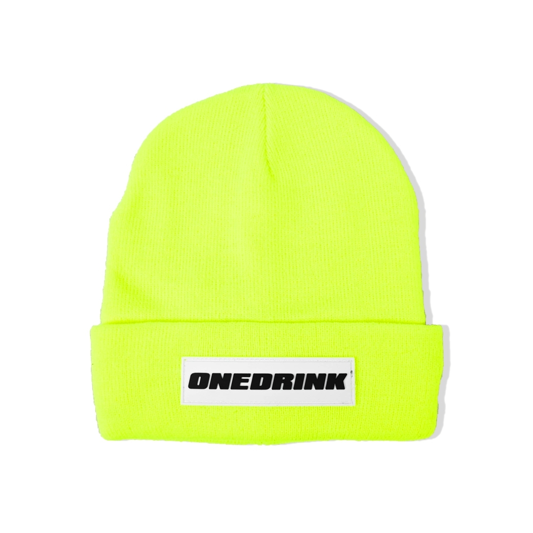 ONE DRINK BEANIE GREEN/WHITE