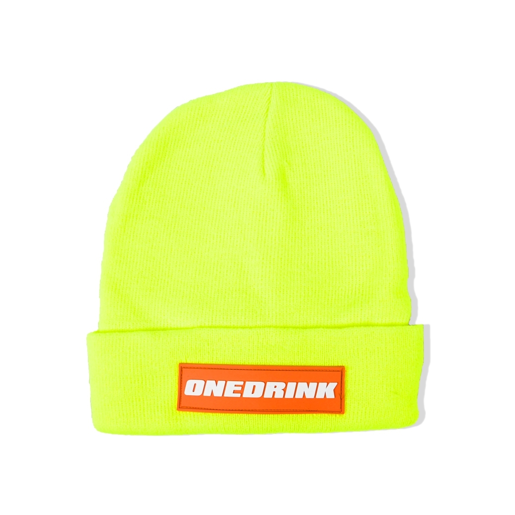 ONE DRINK BEANIE GREEN/RED