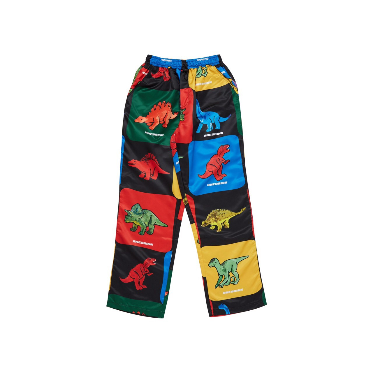 ONE DRINK AND WE GO HOME DINOSAUR PANTS MULTI