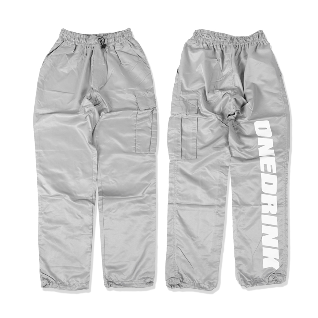 ONE DRINK AND WE GO HOME PANTS GREY/WHITE