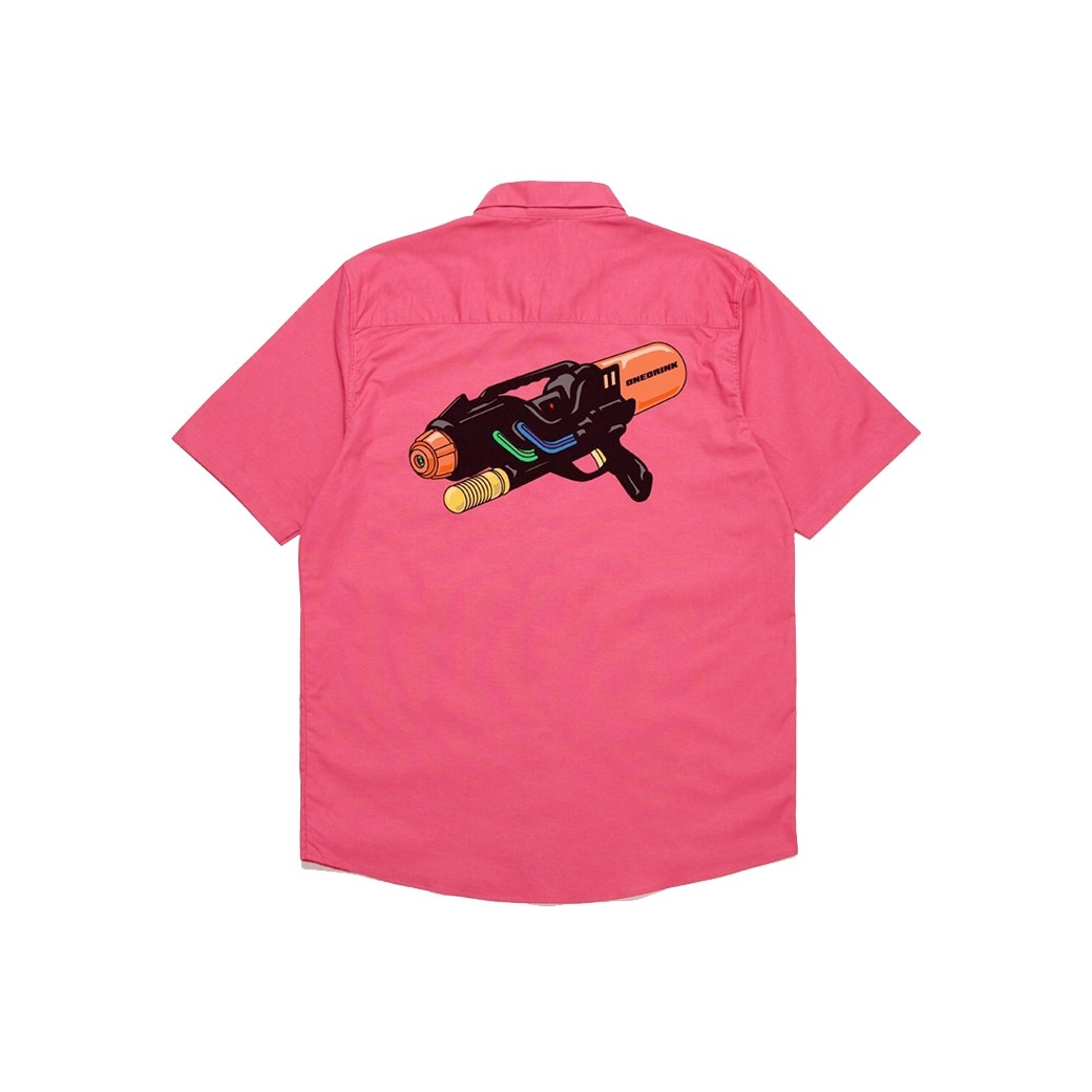 ONE DRINK AND WE GO HOME SUMMER WATERGUN SHIRT PINK