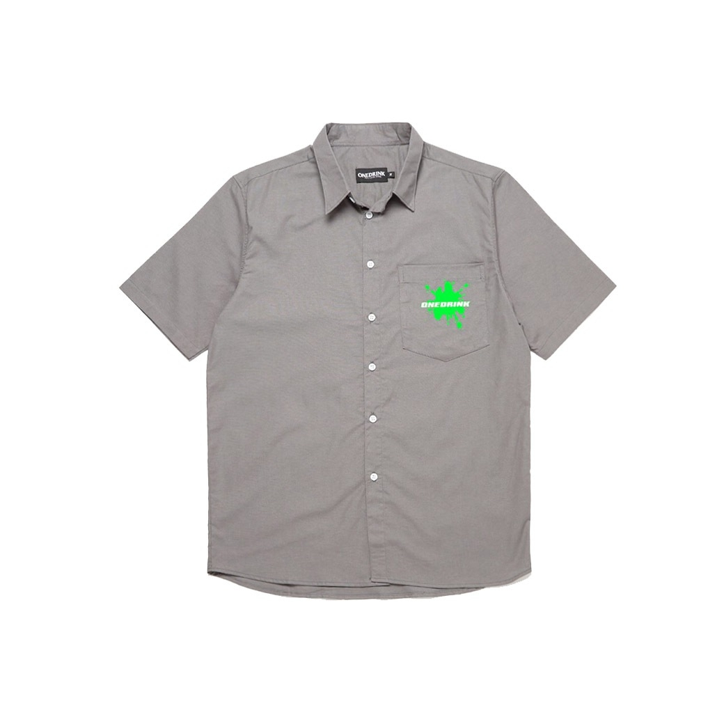 ONE DRINK AND WE GO HOME SUMMER WATERGUN SHIRT GREY